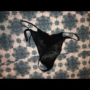 Black thong NWT